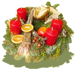 Gestecke - Adventskranz